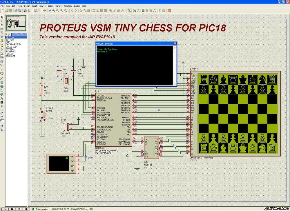 Симулятор электронных схем proteus